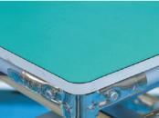 ベニア合板+静電気対策マット+縁テープ処理