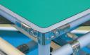 導電マット+ベニア合板+緑テープ処理